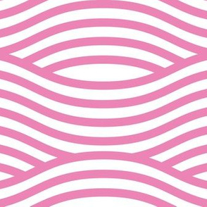 Pink and White Wave Asian Stripes