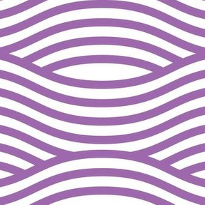 Purple and White Wave Asian Stripes