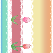 Tulip Lace Border Stripe