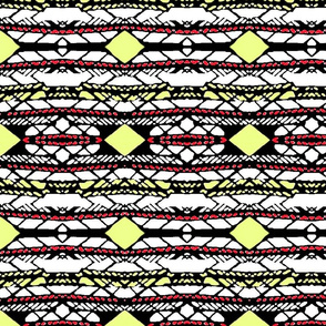 Horizontal Tribal Stripe