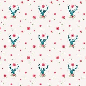 Mini Floral Deer with Roses