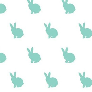 Dark mint bunny solid