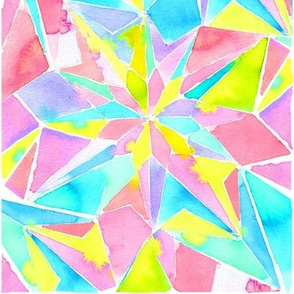 watercolor kaleidoscope