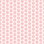 Rose Polka Dots on White, Small, by Su_G