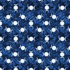 Triple Goddess Symbol dk blue
