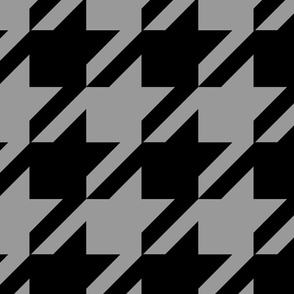 Art Deco Black and Gray Houndstooth