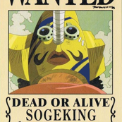 Sogeking's wanted poster from One Piece (color edit)