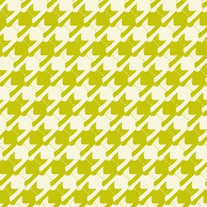 cats-tooth in lime green and light yellow (small scale)