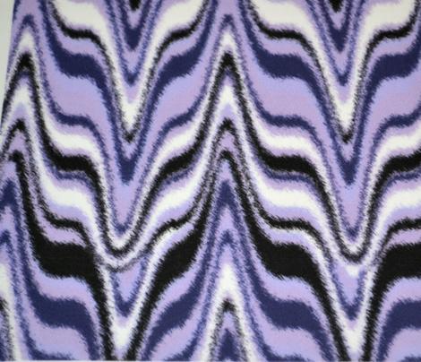 Furry Marbleized Fox Mask Violet