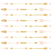 pink and bronze arrows