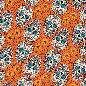 Sugar Skull Day Of The Dead Orange
