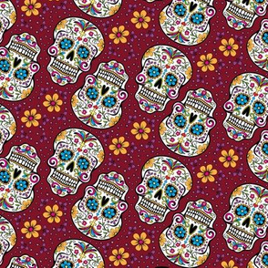 Sugar Skull Day Of The Dead Garnet