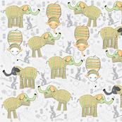 Frolicking BabyElephant Pinatas