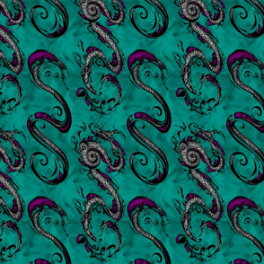 NIB Snakes and Dragons (Brightness/Contrast Adjusted for Lycra)