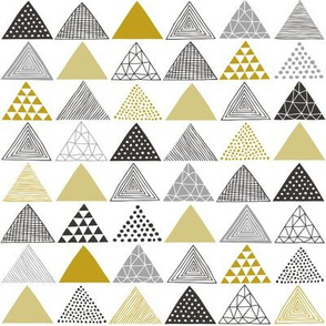 Triangles Geometric Gold