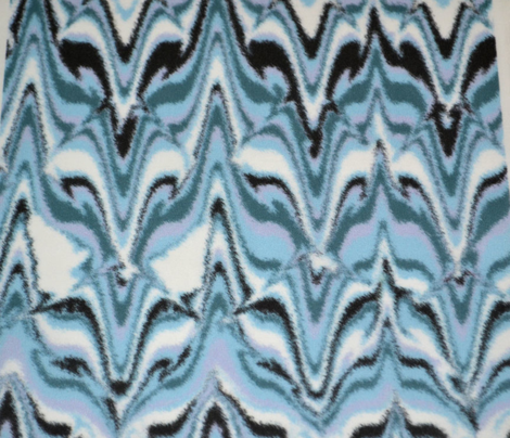 Marbleized Fox Camouflaged Blue