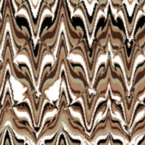 Marbleized Fox Camouflaged Brown