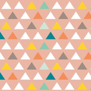 Custom Blush Triangles