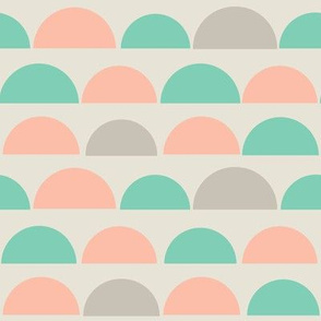Pink Mint and Gray Summer Slices