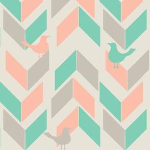 Summer Chevron Birds