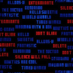 The Doctor in So Many Words