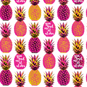 Pink Pineapple - White Wording