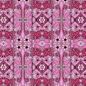 Art Nouveau Pink Four Square Number 4971152