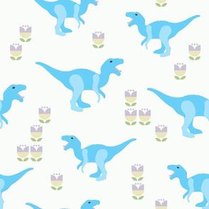 Prehistoric Blue Dinosaur