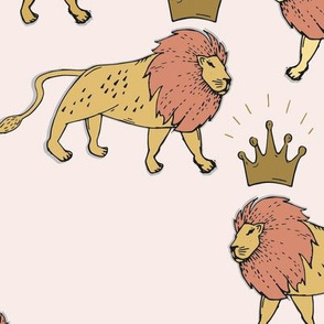 leo_lion_gold_and_pink