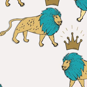 leo_lion_gold_and_turquoise