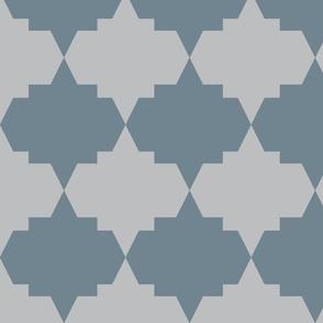Modern Aztec Quatrefoil Coral Gray-ch-ch