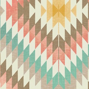 Kilim in Coral and Mint