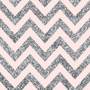 Glitter Chevron in Whisper Pink