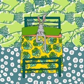 Dream Hare - quilter block 1
