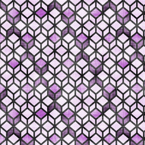 Cube Illusion Purple
