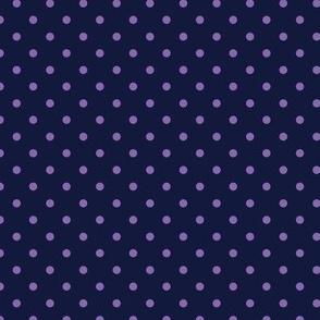 Polka Dot Purple on Navy