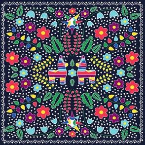 embroidered pinantas in navy