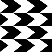 Black and White Chevron Stripes