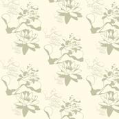 Water_Lily prints Stone2-#FFFAE6