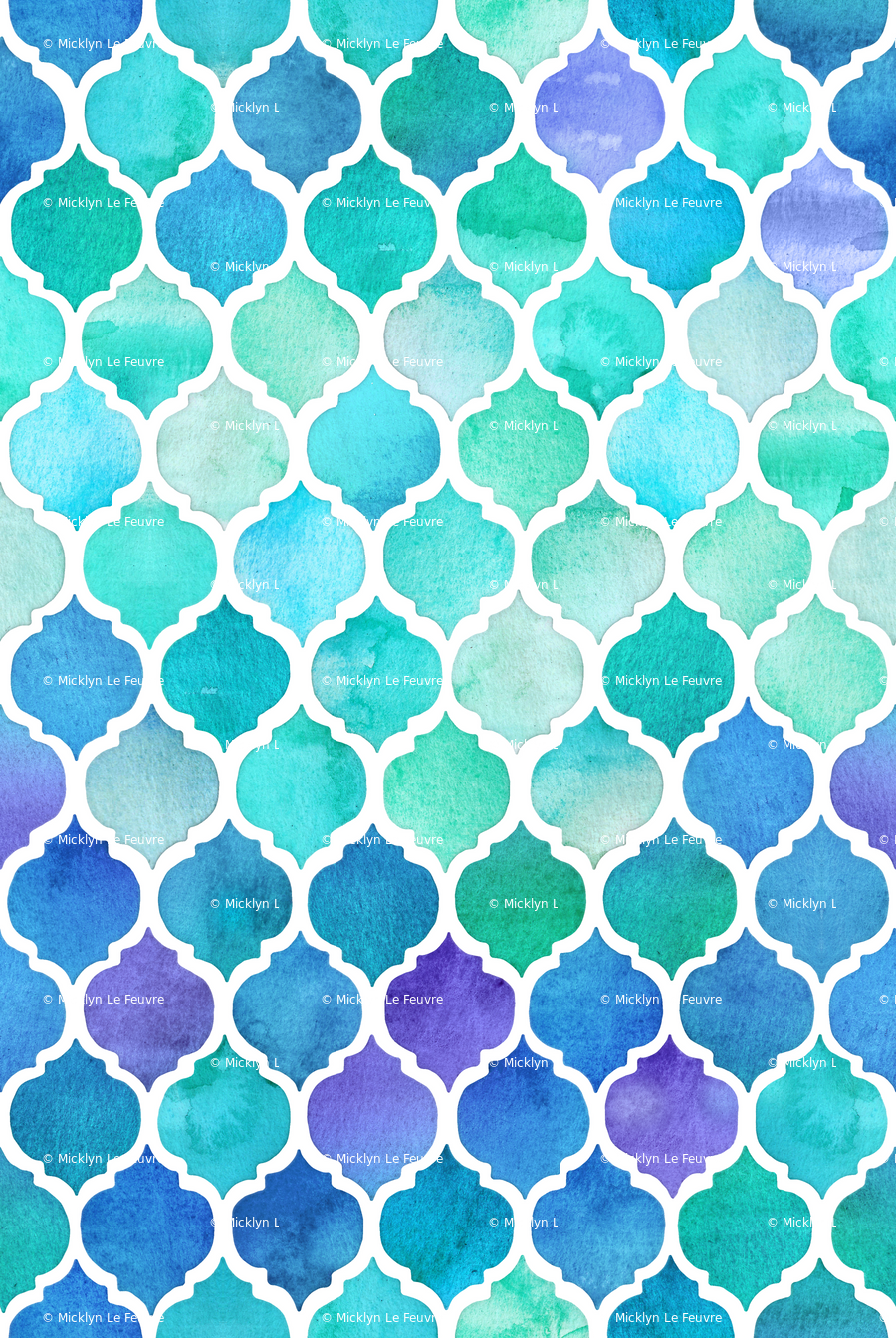 Rblue Moroccan Wallpaper Large Print