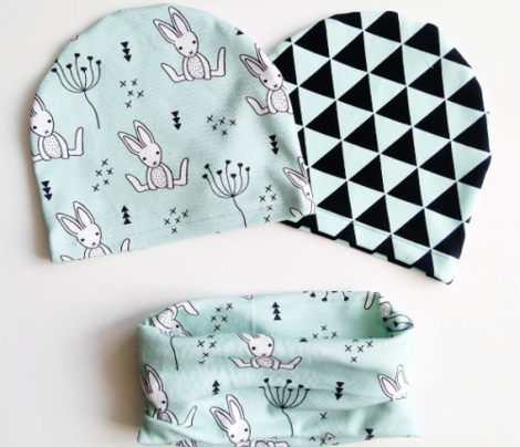 Adorable little baby bunny geometric scandinavian style rabbit for kids gender neutral mint
