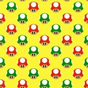 Mushroom Repeat on Yellow