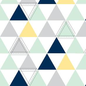 Yellow Hamptons Triangle Quilt