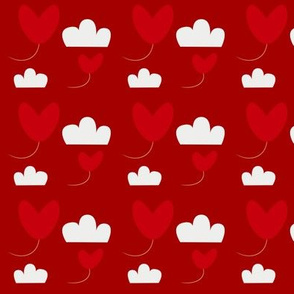 flying heart red