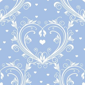 All Hearts Day in white on blueberry