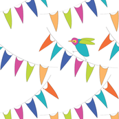 Birds and bunting