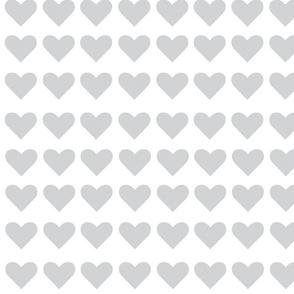 Happy Hearts Grey