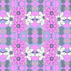 Beautiful Victorian Flowers Fabric #2