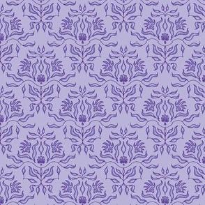 Seaweed Damask- Lavender