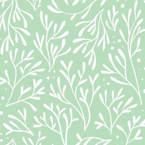 Coral Leaf Dots (Mint)